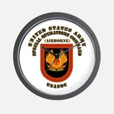 SOF - USASOC Flash with Text Wall Clock