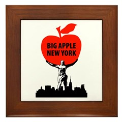 Big Apple, New York Framed Tile