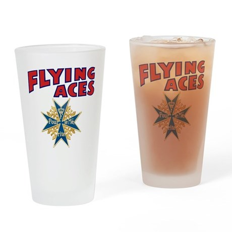 Flying Aces Club Drinking Glass