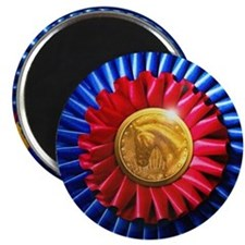 Horse Show Blue, Red Ribbon Magnet