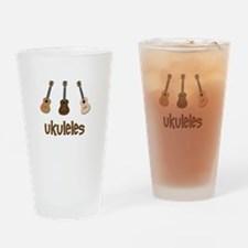 Ukuleles Drinking Glass