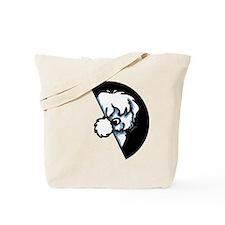 Peeking Coton de Tulear Tote Bag