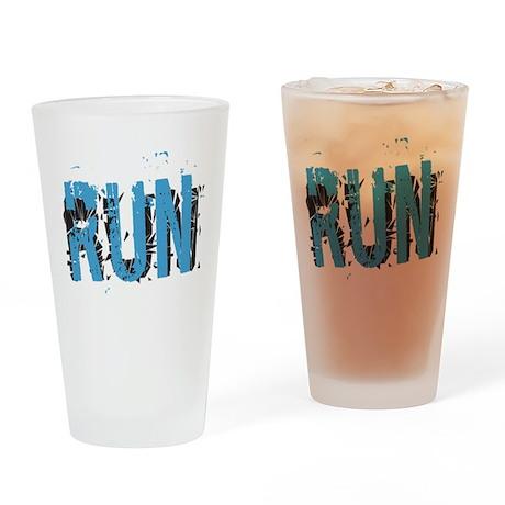 Grunge RUN Drinking Glass