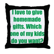 Kid Give-a-Way Throw Pillow