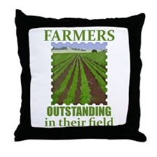 Outstanding Farmers Throw Pillow