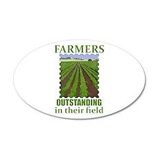 Outstanding Farmers 22x14 Oval Wall Peel