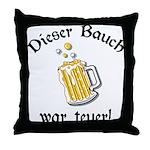 Funny German Drinking Throw Pillow