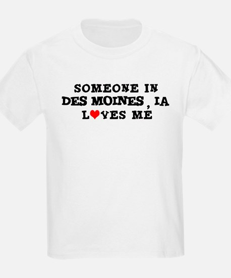 Someone in Des Moines Kids T-Shirt