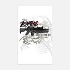 Zombie Whisperer Hunter M16 Sticker (Rectangle)