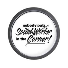 Social Worker Nobody Corner Wall Clock