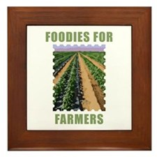 Foodies for Farmers Framed Tile