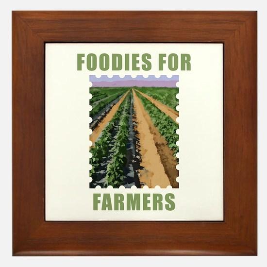 Foodies for Farmers Framed Tile