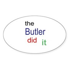 The Butler Did It Decal