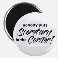 Secretary Nobody Corner Magnet