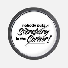 Secretary Nobody Corner Wall Clock