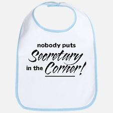 Secretary Nobody Corner Bib