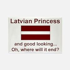 Gd Lkg Latvian Princess Rectangle Magnet