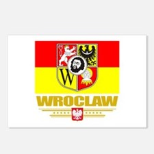 Wroclaw Flag Postcards (Package of 8)