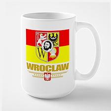 Wroclaw Flag Large Mug