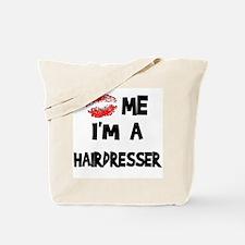 Kiss Me I'm A Hairdresser Tote Bag