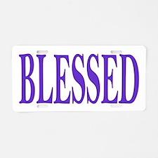 Blessed Aluminum License Plate