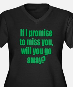 Promise to Miss You Women's Plus Size V-Neck Dark