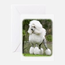 Poodle Standard 9Y199D-029 Greeting Card