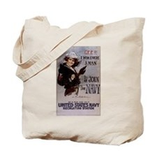 Gee, I Wish I Were a Man Tote Bag