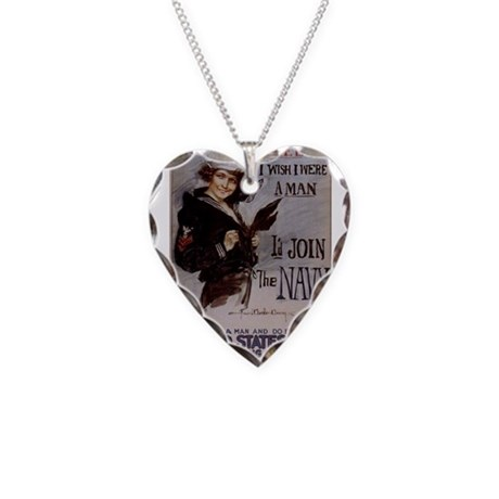 Gee, I Wish I Were a Man Necklace Heart Charm