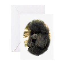 Poodle Standard 9F5D-02 Greeting Card