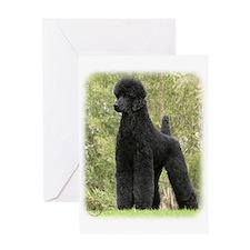 Poodle Standard 9Y181D-031 Greeting Card