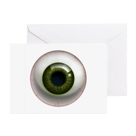 The Eye: Green, Dark Greeting Cards (Pk of 10)