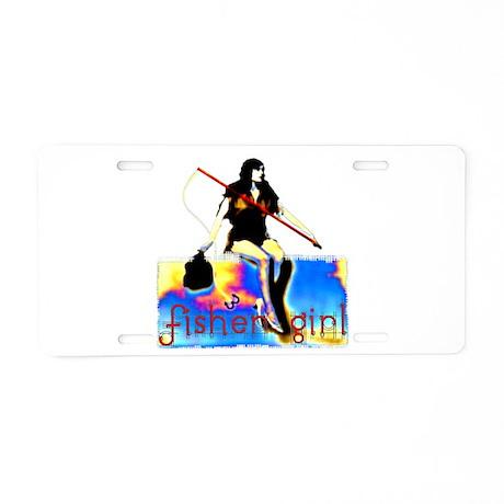Fisher Girl Aluminum License Plate