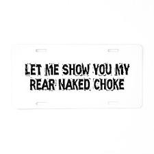 Rear Naked Choke Aluminum License Plate