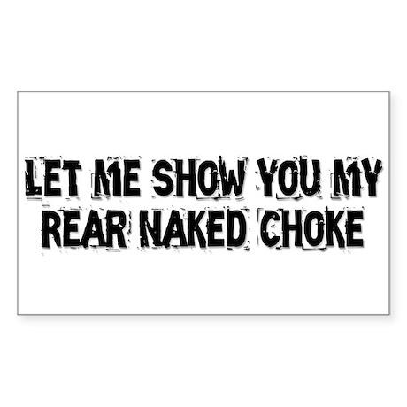 Rear Naked Choke Sticker (Rectangle)