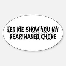 Rear Naked Choke Sticker (Oval)