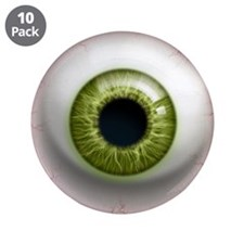 """The Eye: Green 3.5"""" Button (10 pack)"""