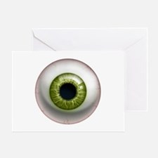 The Eye: Green Greeting Card