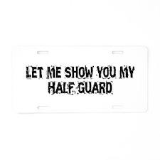 Half Guard Aluminum License Plate