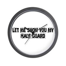 Half Guard Wall Clock