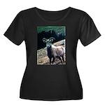 Mountain Sheep Women's Plus Size Scoop Neck Dark T