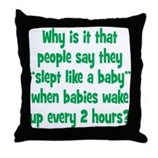 Slept like a Baby Throw Pillow