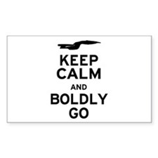 Keep Calm and Boldly Go Decal