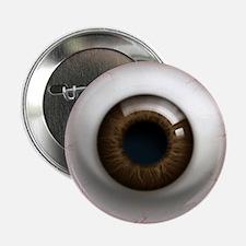 """The Eye: Brown, Dark 2.25"""" Button (10 pack)"""