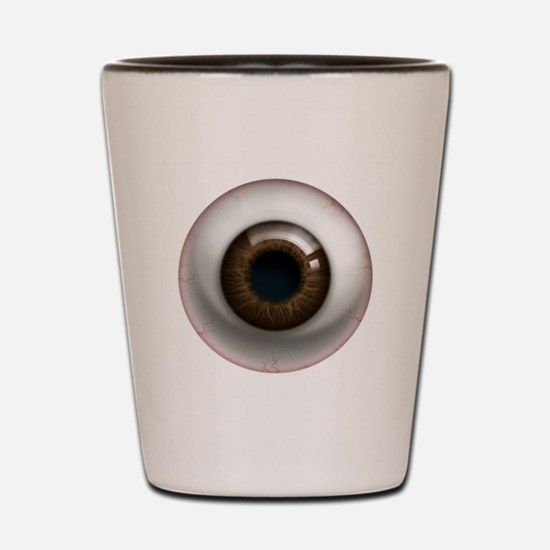 The Eye: Brown, Dark Shot Glass