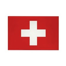 Switzerland Civil Ensign Rectangle Magnet