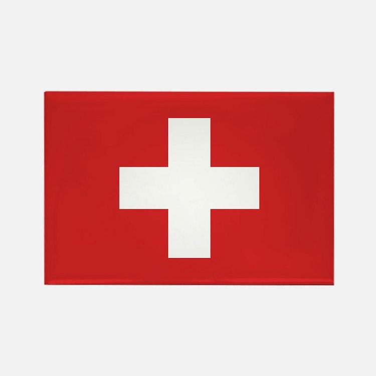 Switzerland Civil Ensign Rectangle Magnet