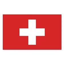 Switzerland Civil Ensign Rectangle Decal