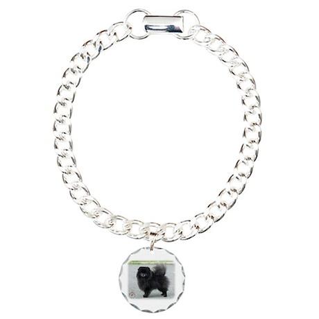 Pomeranian 9R042D-47 Charm Bracelet, One Charm