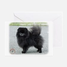 Pomeranian 9R042D-47 Greeting Card